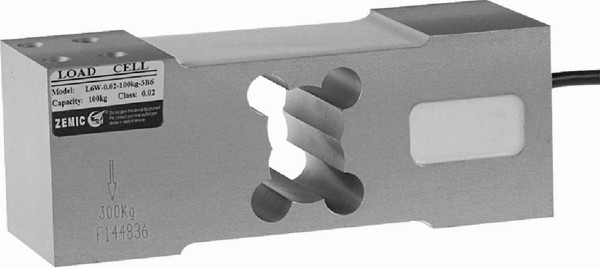 ZEMIC L6G, 50kg, IP-65, hliník (Tenzometrický snímač zatížení pro středové zatížení ZEMIC model L6G)