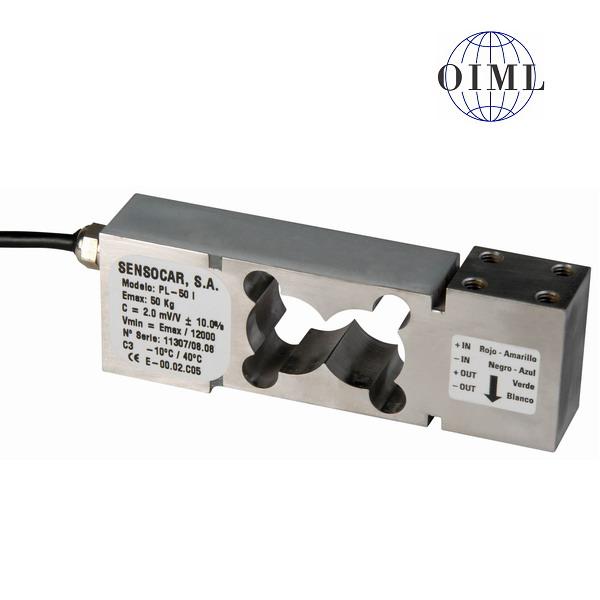 SENSOCAR PL-50, 50kg, IP-67, nerez (Tenzometrický snímač zatížení pro středové zatížení SENSOCAR  model PL-50)