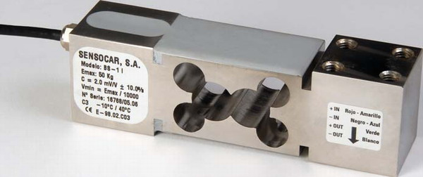 SENSOCAR BS-1, 50kg, IP-67, nerez (Tenzometrický snímač zatížení pro středové zatížení SENSOCAR  model BS-1)