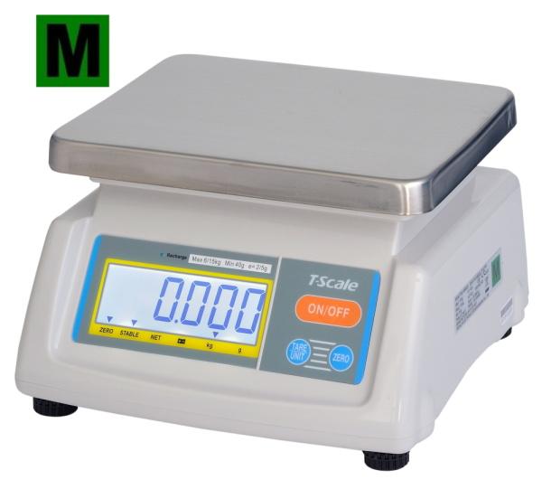 TSCALE T28-6D, 3;6kg/1;2g, 190mmx230mm (Gastro váha se dvěma displeji pro kuchyně, výrobny a sklady)