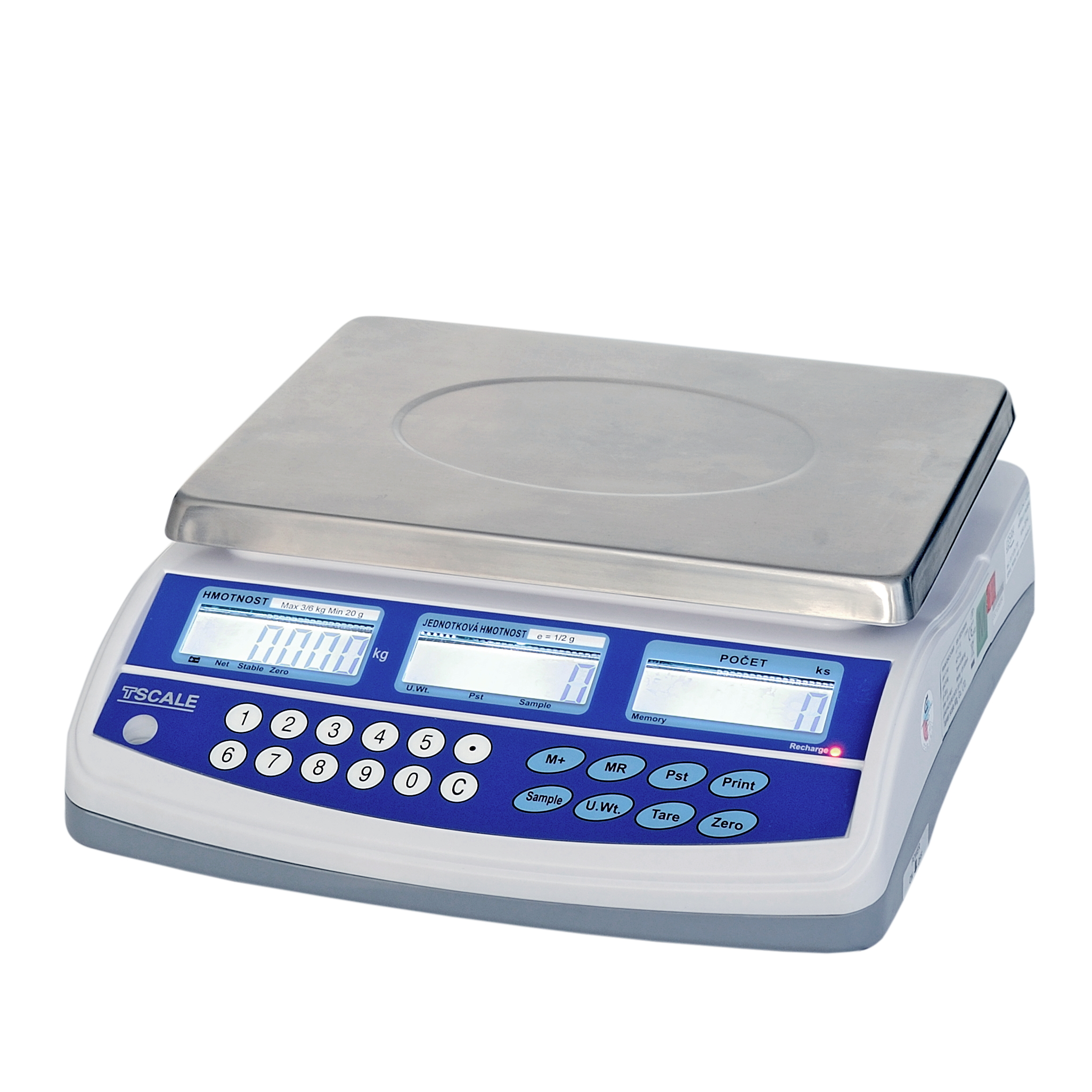 TSCALE QHD-3 PLUS, 3kg/0,05g, 225mmx300mm (Stolní počítací váha pro kontrolní vážení s velkou přesností)