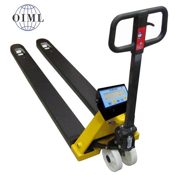 LESAK PV4TDFWL2T2M, 2t/1kg, 550mmx2000mm (Paletový vozík s váhou do 2000kg s vážícími vidlicemi délky 2m)