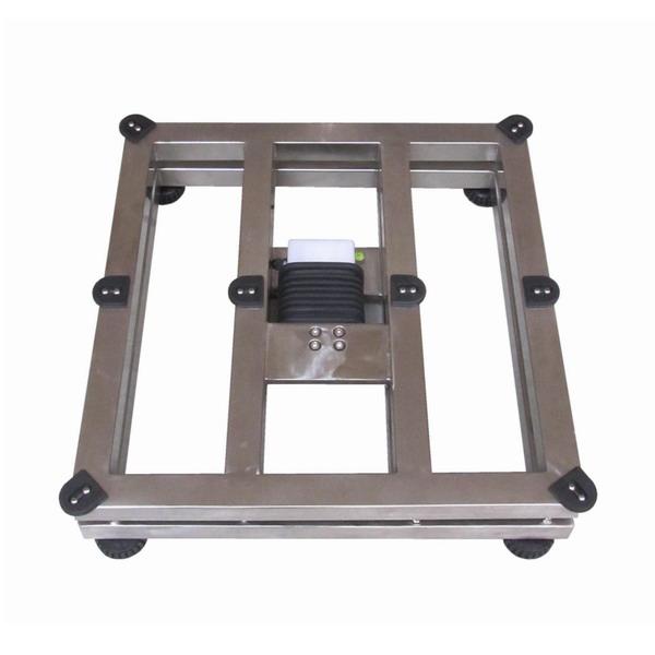 LESAK 1T6060NNRWS/DR, 15;30kg/5;10g, 600mmx600mm  (Můstková nerezová voděodolná váha s dvojím rozsahem a nerezovým vážním indikátorem RWS)