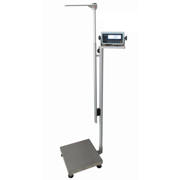 LESAK 1T4040LOV150RWP-BASIC, 60;150kg/20;50g, 400mmx400mm  (Osobní váha s výškoměrem pro vážení osob za nízkou cenu)