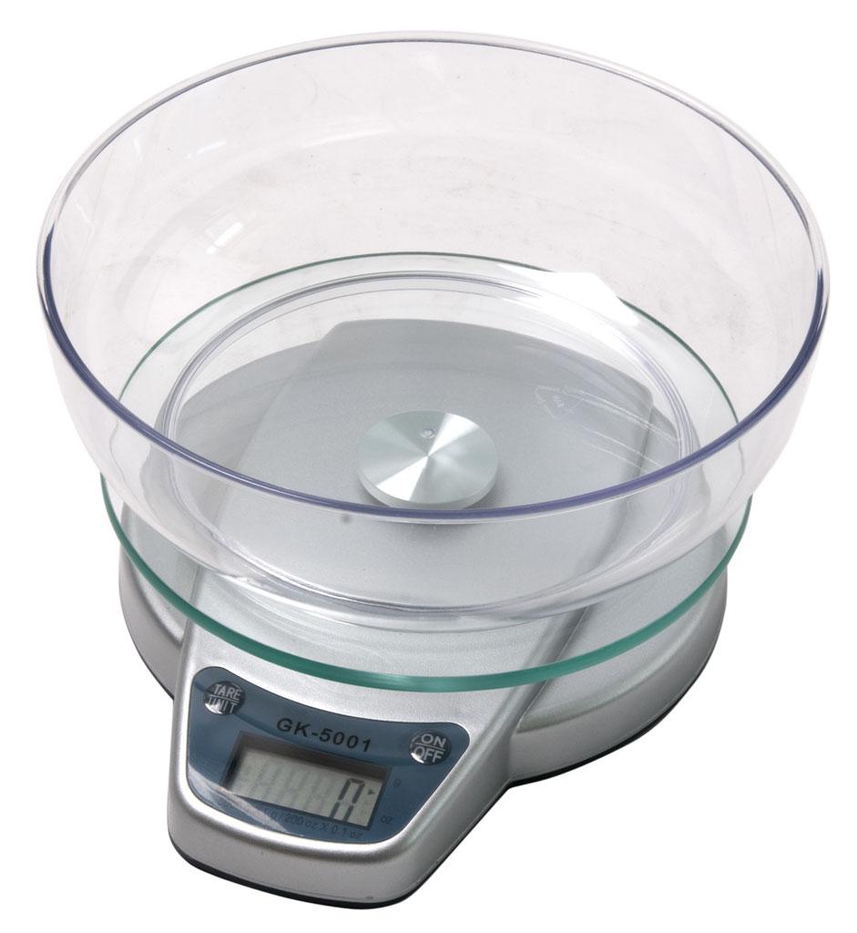 LESAK GK, 5kg/1g, 160mm (Levná váha pro domácí kuchyně s přídavnou miskou)