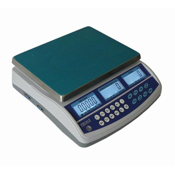 TSCALE QHD GASTRO, 3kg/0,05g, 225mmx300mm (Váha pro zjišťování objemu tekutin, počítání bankovek a mincí s možností připojení externí plošiny pro vážení sudů)