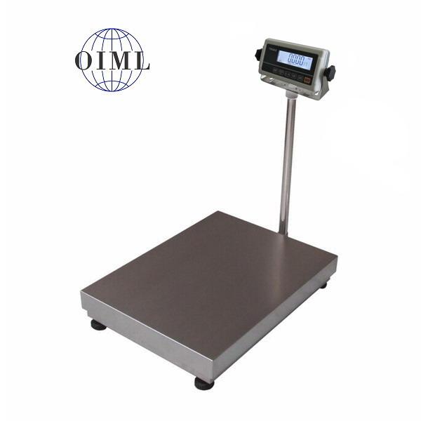 LESAK 1T4560LN-RWP/DR, 300;500kg/100;200g, 450x600mm, l/n (Váha s plastovým vážním indikátorem na stativu s dvojím rozsahem)