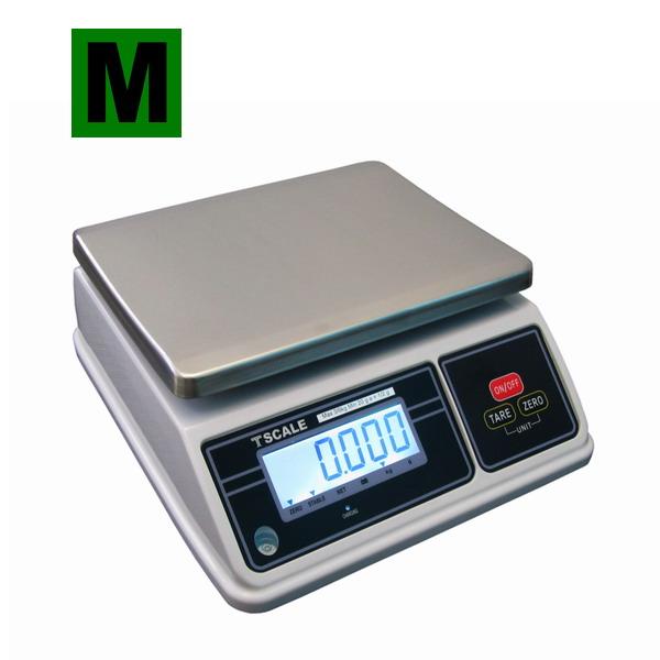TSCALE SW, 6;15kg/2;5g, 200mmx260mm (Gastro váha se dvěma displeji v krytí IP-65 určená do kuchyní, výroben a skladů)