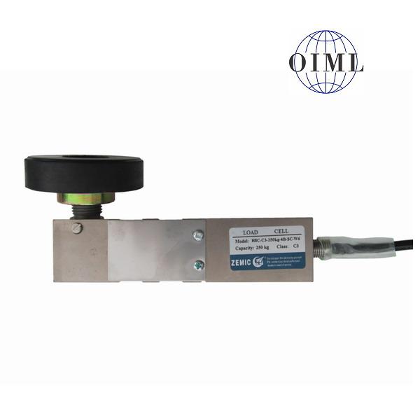 ZEMIC H8C-W6, 250kg, IP-67, ocel (Tenzometrický střihový snímač pro rohové zatížení ZEMIC model H8C s nožkou - čep)