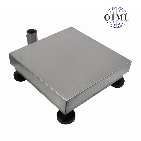 LESAK 1T5050NN, 30kg, 500mmx500mm, nerez (Vážní můstek v nerezovém provedení bez vážního indikátoru)