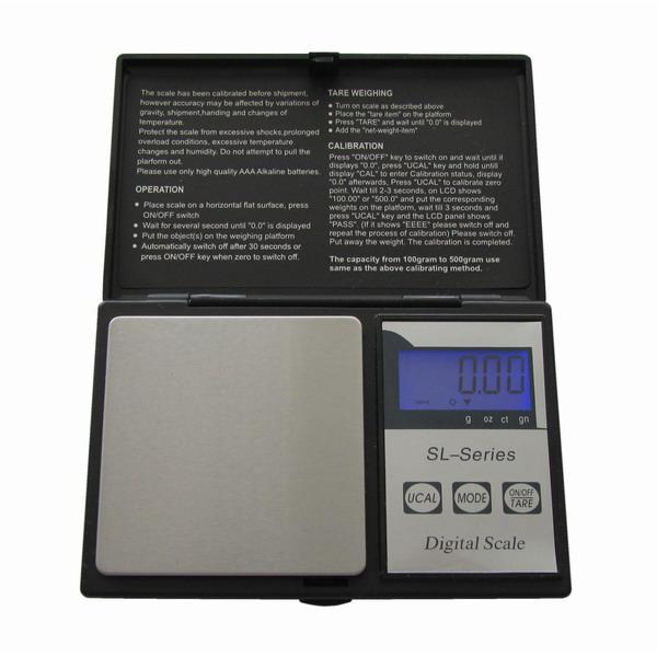 LESAK SL, 1000g/0,1g, 60mmx60mm (Levná kapesní váha pro přesné vážení, vhodná i pro diabetiky)