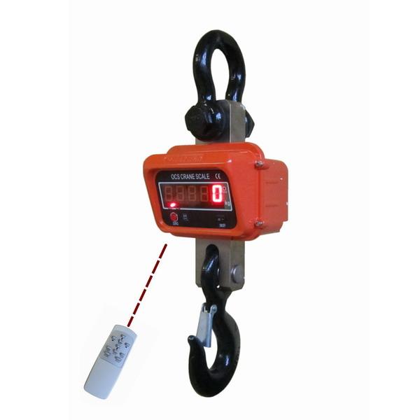 LESAK JEV, 10t/5kg (Závěsná/jeřábová váha s dálkovým ovládáním a svítícím LED displejem)