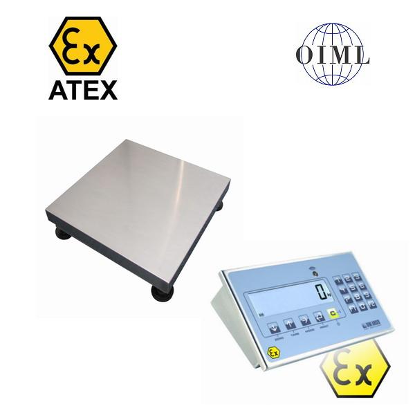 LESAK 1T3030LNDINDFWLKI3GD015, 15kg/5g, 300mmx300mm, výbušné prostředí (Váha můstková do výbušného prostředí pro ATEX zóny 2 a 22, model 1T3030LNDFWLKI3GD015)