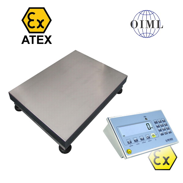 LESAK 1T4560LNDFWLKI3GD150, 150kg/50g, 450mmx600mm, výbušné prostředí (Váha můstková do výbušného prostředí pro ATEX zóny 2 a 22, model 1T4560LNDFWLKI3GD150)