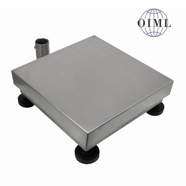 LESAK 1T5050NN, 60kg, 500mmx500mm, nerez (Vážní můstek v nerezovém provedení bez vážního indikátoru)
