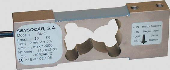 SENSOCAR BL-C, 36kg, IP-67, nerez (Tenzometrický snímač zatížení pro středové zatížení SENSOCAR  model BL-C)