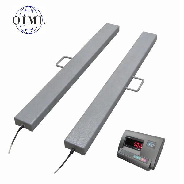 LESAK 4TVLL1000A12, 3t/1kg, 120mmx1000mm, lak (Ližinové váhy na palety v lakovaném provedení)