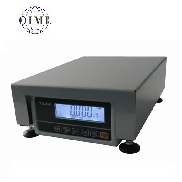 LESAK 1T2535LN-RWP/DR, 15;30kg/5;10g, 250mmx350mm (Stolní můstková váha se zabudovaným plastovým indikátorem, lak/nerez)