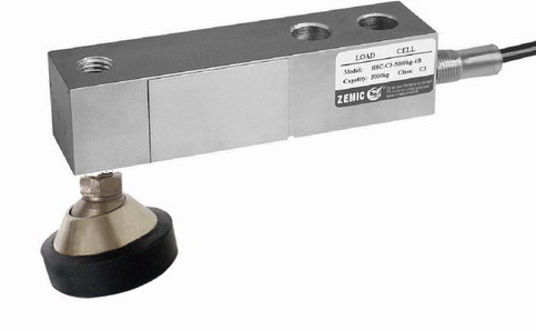 ZEMIC H8C, 2t, IP-67, ocel (Tenzometrický střihový snímač pro rohové zatížení ZEMIC model H8C s nožkou)