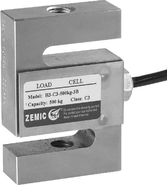ZEMIC H3, 600kg, IP-67, ocel (Tenzometrický tahový snímač ZEMIC model H3)