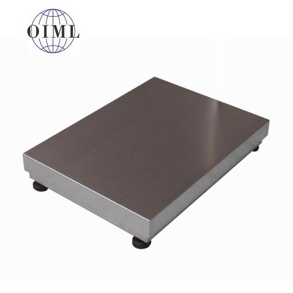 LESAK 1T6080NN, 600kg, 600mmx800mm, nerez (Vážní můstek v nerezovém provedení bez vážního indikátoru)