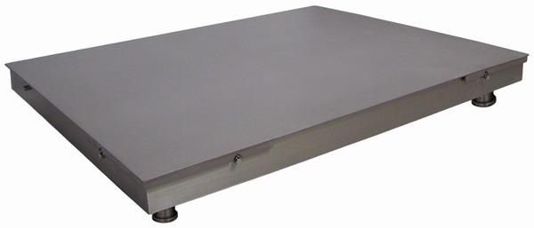 LESAK 4T1520PN, 3t, 1500mmx2000mm, nerez (Podlahová vážní plošina v nerezovém provedení bez vážního indikátoru)